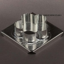 Scallop Floater Candle Mold - Product Image