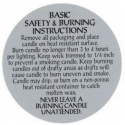 Burning Label For Pillar Candles - Product Image
