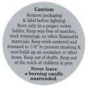 Burning Label For Votive Candles - Product Image