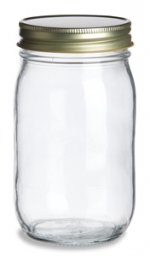 Jelly Jar with Gold Color Lid - 16 Oz. - Product Image