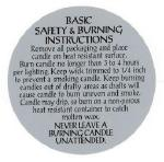 Candle Warning Lables and Candle Burn Labels
