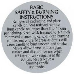 graphic about Free Printable Candle Warning Labels titled Candle Caution Labels, Candle Burn up Labels, Jar Candle Burn up