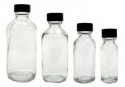 1 Dozen Flint Glass Bottles 4 oz. - Product Image