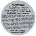 Burning Label For GEL Candles - Product Image