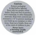 Burning Label For Votive Candles - Product Image