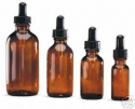 1 Dozen Amber Glass Dropper Bottles 1/2 oz. - Product Image