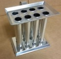 8 Tube Taper Metal Candle Mold 6 Inch or 8 Inch Tapers - Product Image