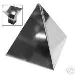Pyramid Straight Corner w/Stand Pillar Candle Mold - Product Image