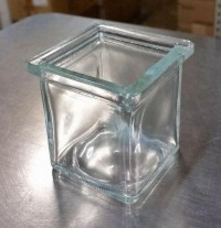 3 oz Square Votive Style Candle Glass Jar - Product Image