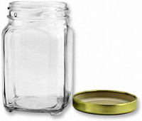 Victorian Square Glass Jars With Lids - 6 Oz. - Product Image