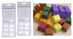 Wax Tart Melt Clamshell Molds - STANDARD SIZE - Product Image